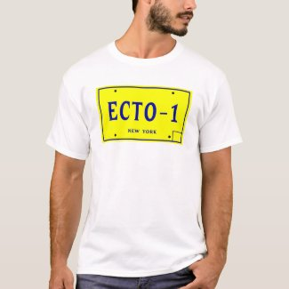 ECTO-1 License Plate T-shirt for Men or Women - choice of colours