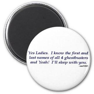 Ghostbusters Date Joke Magnet