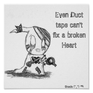 Ghostie: Even Duct tape can't fix... Poster