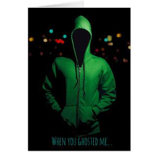 Ghosting Pushback Relationship Breakup I Custom Card