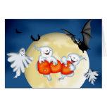 Ghostly Boo Halloween card