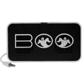 Ghostly Boo Halloween Speaker, Black and White