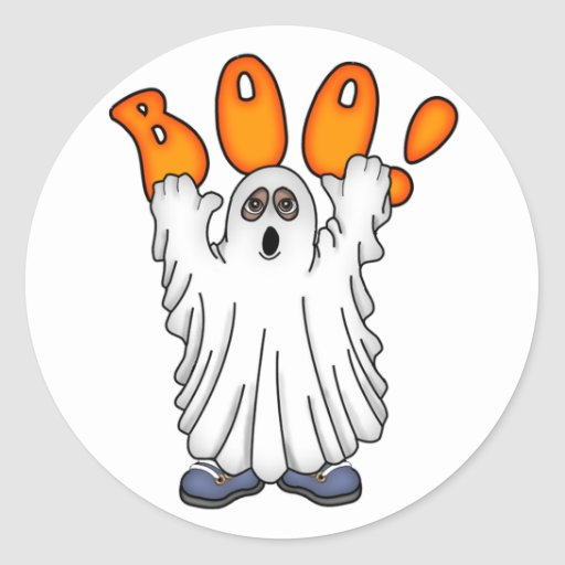 Ghostly Boo Sticker