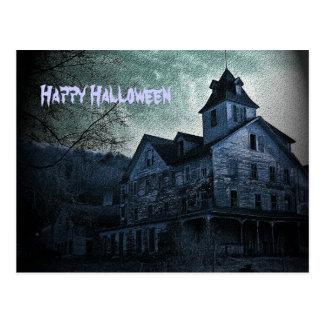 Ghostly Estate Halloween Postcard