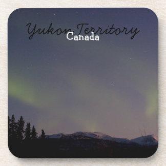 Ghostly Glow; Yukon Territory Souvenir Beverage Coasters