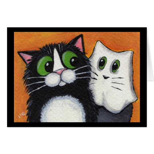 Ghostly Goings On Halloween Cats Card