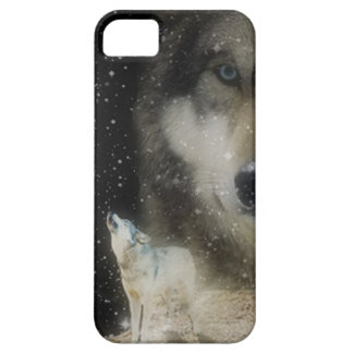 Ghostly Grey Wolves Barely There iPhone 5 Case