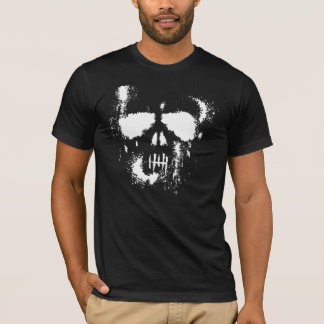 Ghostly Halloween Skull Silhouette T-Shirt