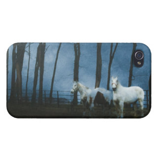 Ghostly Horses at Midnight iPhone 4 Case