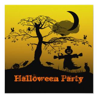 "Ghostly Party Invitation 5.25"" Square Invitation Card"