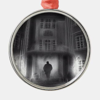 Ghostly Scene Christmas Ornament