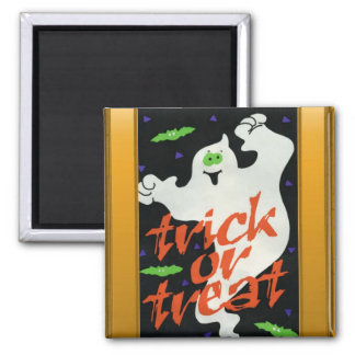 Ghostly Trick or treat Refrigerator Magnet