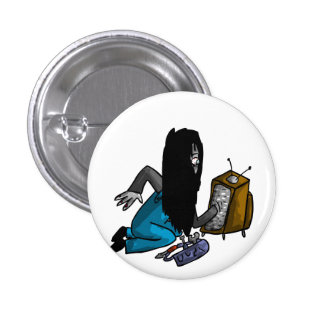 Ghostly Tv Repair-Person 3 Cm Round Badge
