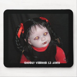 Ghostly Visions 13 halloween horror doll Mouse Mat