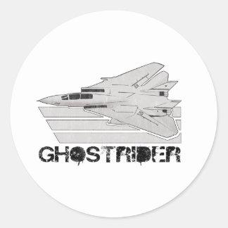 ghostrider round sticker