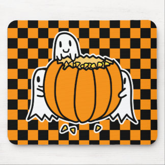 Ghosts and Pumpkin Mousepad