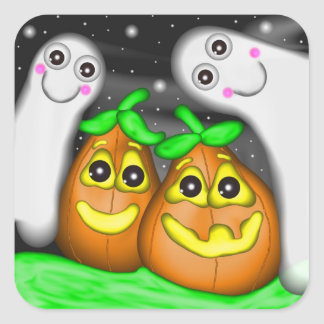 Ghosts and Pumpkin Pals Sticker