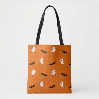 Ghosts & Bats Halloween Tote