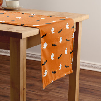Ghosts & Bats Orange Table Runner