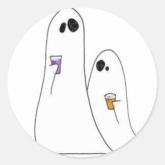 Ghosts Classic Round Sticker