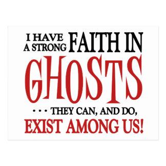 Ghosts Exist Postcard
