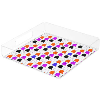 Ghosts in color square tray