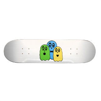 Ghosts in green blue yellow skate decks
