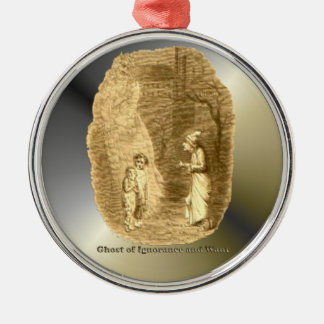 Ghosts of Christmas - A Christmas Carol Silver-Colored Round Decoration