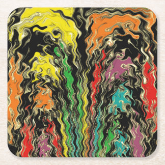 Ghosts of Rainbow Past Square Paper Coaster