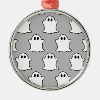 Ghosts Silver-Colored Round Decoration