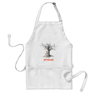 Ghosts Skeleton Halloween Funny Apron