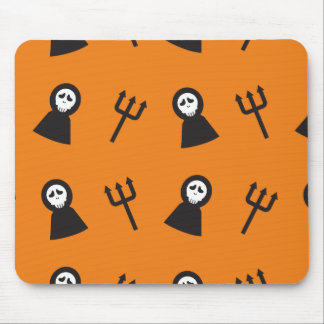 Ghosts tridents pattern Halloween Mouse Pad
