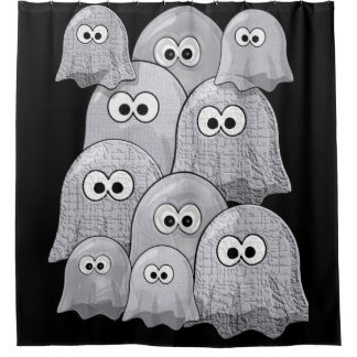 Ghosts white black children's showercurtain shower curtain