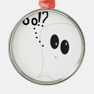 Ghosty - Boo Silver-Colored Round Decoration