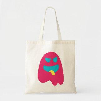 ghosty pixel tote bag