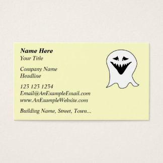 Ghoul. Black and White. Business Card