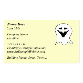 Ghoul. Black and White. Pack Of Standard Business Cards