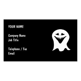 Ghoul Ghost. Black and White. Business Card Template