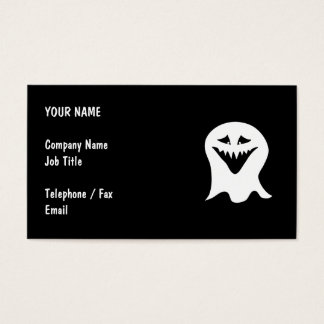 Ghoul Ghost. Black and White. Business Card