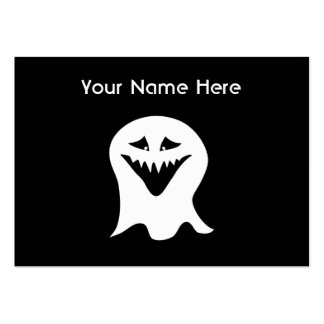 Ghoul Ghost. Black and White. Business Cards