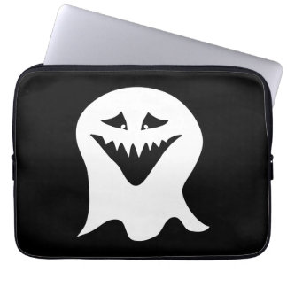Ghoul Ghost Black and White Laptop Sleeves