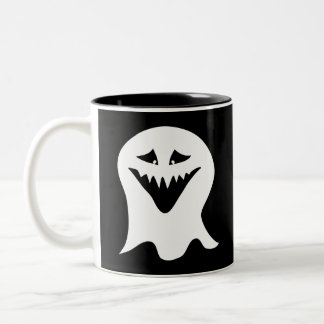 Ghoul Ghost. Black and White. Mugs
