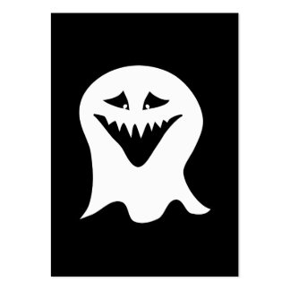 Ghoul Ghost. Black and White. Pack Of Chubby Business Cards