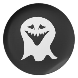 Ghoul Ghost. Black and White. Plate