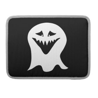 Ghoul Ghost. Black and White. Sleeve For MacBooks