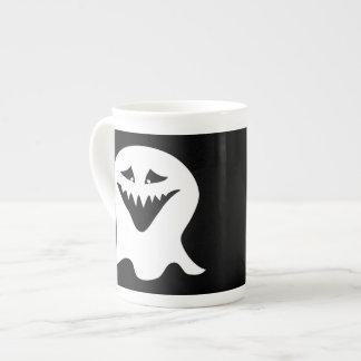 Ghoul Ghost. Black and White. Bone China Mug