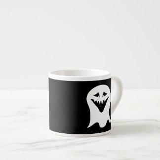 Ghoul Ghost Black and White Espresso Mug