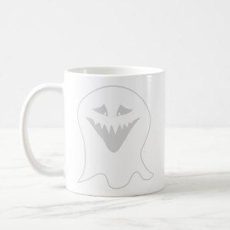 Ghoul Ghost. Gray and White. Basic White Mug