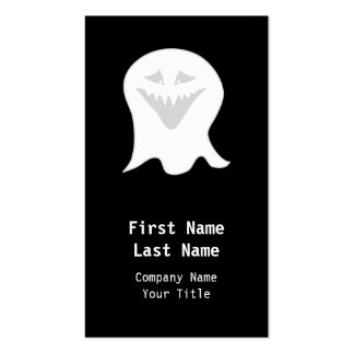Ghoul Ghost. Gray and White. Business Cards