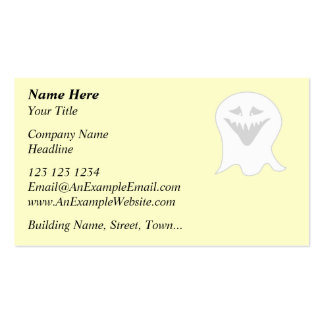 Ghoul Ghost. Gray and White. Business Card